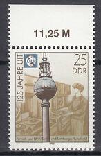 DDR 1990 Mi. Nr. 3334 mit Oberrand Postfrisch (25387)