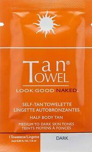 Half Body Tan Self-Tan Towelettes by Tan Towel, 10 count Dark