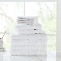 Bath Towel Hand Washcloth Face Towels 100% Cotton Soft Durable Absorbent 10 Set