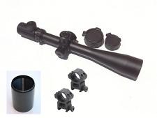 6-24x50 mm Side Focus 30mm Ill. Mil Dot Lock Turret Rifle Scope + Rings+Sunshade