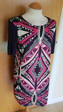 ladies TU tunic dress size 10 blue pink smart casual