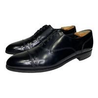 Florsheim Mens Black Leather Cap Toe Oxford Lace Up Dress Shoes 20363 Size 11 B