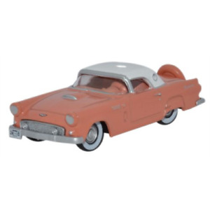 Oxford 87TH560013 Ford Thunderbird 1956 Sunset Coral and Colon 1/87