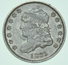 More details for usa, united states capped bust silver half dime, 5₵, 1831 coin ef