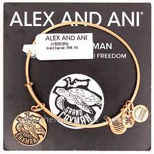 NEW ALEX AND ANI Grand Cayman Exclusive GOLD Turtle Charm Bangle Bracelet