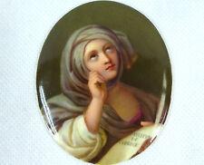 porcelaine plaque PEINT à la main KPM - Berlin 19 siècle portrait VIRGIN