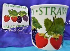 Orchard Fruits - Mug & Coaster Set - Leonardo Collection (Strawberry/Blackberry)