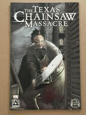 TEXAS CHAINSAW MASSACRE SPECIAL #1 PLATINUM FOIL with BRIAN PULIDO SIGNED POSTER