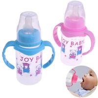 1Pc 125ml cute baby feeding nipple bottle infant milk water bottle with ha JR