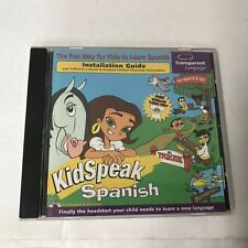 KidSpeak Spanish PC MAC CD Transparent Language