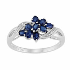 Natural Not Enhanced Sapphire Sterling Silver Fine Rings