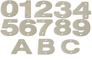 "Large Stainless Steel Door Numbers 75mm 3""  150mm 6"" Modern House Metal Numerals"