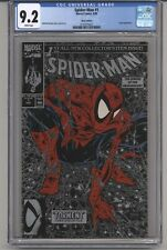 SPIDER-MAN  #1 CGC 9.2 WHPGS TODD MCFARLANE STORY C&A SILVER EDITION LIZZARD