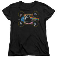 PINK FLOYD DARK SIDE HEADS Licensed Women's Graphic Band Tee Shirt SM-2XL