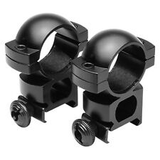 "NcStar 1"" Rifle Scope Weaver Rings Mounts High-Profile See-Through Aluminum BLK"