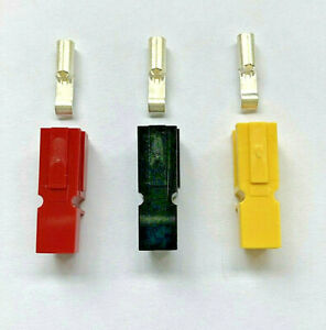 POWAKADDY LITHIUM BATTERY REPLACEMENT CONNECTORS RED BLACK YELLOW + CONTACTS