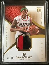 DAMIAN LILLARD 2012 IMMACULATE COLLECTION ROOKIE PRIME PATCH TRUE RC CARD #/99