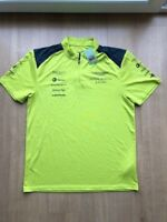 NEW 2017 ASTON MARTIN RACING TEAM ISSUE DAYGLO RACE POLO Size XSmall WEC Le MANS