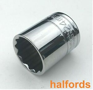 """Halfords Advance Chrome Professional 1/2""""  12 Point Socket 20mm To 32mm"""