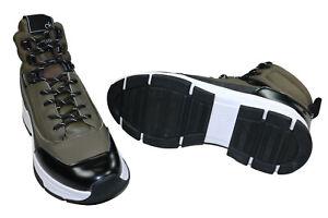 Calvin Klein Cillian Leather Men's High Top Sneakers Size 10 NIB Green/Black