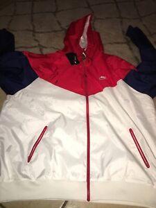 New Nike Classic Windrunner F/Z Jacket USA AR2191-104 Navy/White/Red Mens XXL-T