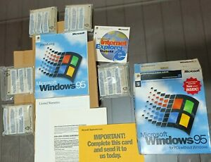 Microsoft Windows 95, 3.5 Floppy Retail Copy - Open Box! -