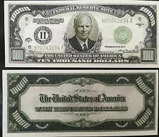 "25 $10000 Ten Thousand Dollar ""authentic"" Fun Play Money Gift Bill Novelty Gag"