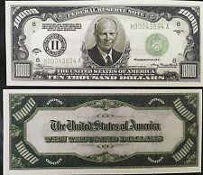 "5-Pak Of Ten Thousand Dollar ""authentic"" Fun Play Casino Money Gift Bill Novelty"