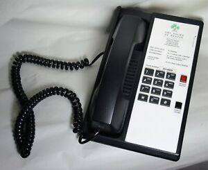 Teledex Diamond Hotel Hospitality Guestroom Telephone Black