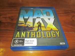Mad Max Anthology 4 Movies ( Mel Gibson , Bruce Spence ) 5 Disc Set - Blu-Ray