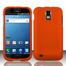 Orange Rubberized HARD Case Phone Cover T-Mobile Samsung Galaxy S II 2 S2 T989