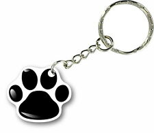 Keychain key ring keyring car motorcycle home biker paw dog cat wolf print