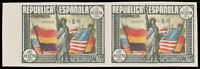 Spain #C97a MNH Imperf Pair CV$1100.00 1938 5p+1p STATUE OF LIBERTY [Cert]