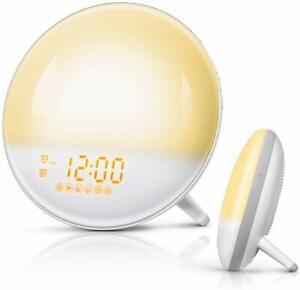 FimiTech Wake Up Light, Alarm Clock 7 Colored Sunrise Simulation and Sunset