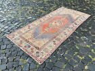 Patchwork, Turkish rug, Vintage rug, Handmade rug, Runner, Wool   3,3 x 7,0 ft