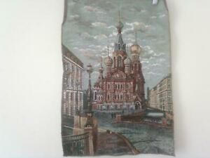 Tapestry wall hanging Russia scene