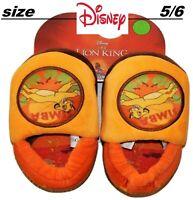 New Toddler size 5/6 Disney Simba, The Lion King Slippers Boys Girls orange