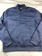 Greg Norman Attack Life Mens L Blue Pullover 1/4 Zip Active Sweater