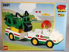 VERY RARE VINTAGE 1994 LEGO DUPLO 2621 OCTAN MOTORBIKE TRANSPORTER NEW MISB !