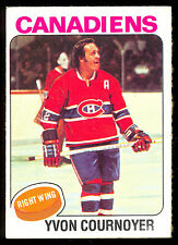 1975-76 TOPPS #70 YVON COURNOYER NM MONTREAL CANADIENS HOCKEY FREE SHIP to USA