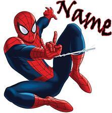 1 LARGE PERSONALISED SPIDERMAN IRON ON T SHIRT TRANSFER LIGHT/WHITE FABRICS #2