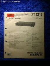 Sony Service Manual ST S117 Tuner  (#0425)