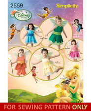 SEWING PATTERN! MAKES DISNEY FAIRY COSTUME! TINKER BELL! SIZES 1/2~4! HALLOWEEN!