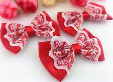 DIY 10-100 pcs Satin Ribbon Organza lace BOW Appliques/craft/Wedding decoration