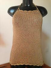 top  magliashirt donna artigianale ferri uncinetto 44 46 multicolor pezzo unico