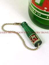 Rare 1950s 7-Up ACL bottle 1½ inch figural plastic keychain Tavern Trove