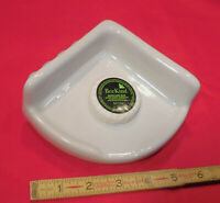 Ceramic *Glossy White*  Extra Small Corner Bath-Shower Soap Dish-Tray-Shelf  5""