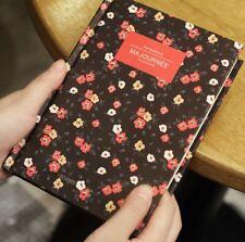 """Ma Journee"" 1pc Hard Cover Notebook Vintage Flowers Journal Diary Sketchbook"
