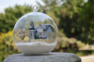 ~ 0.99 ~ DIY  Miniature Dollhouse in Mini Glass Ball,  (B-004),