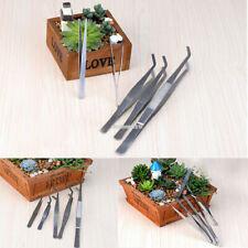 1/5x Bonsai Tweezers Stainless Micro Landscape Succulent Plant Tool Garden Decor